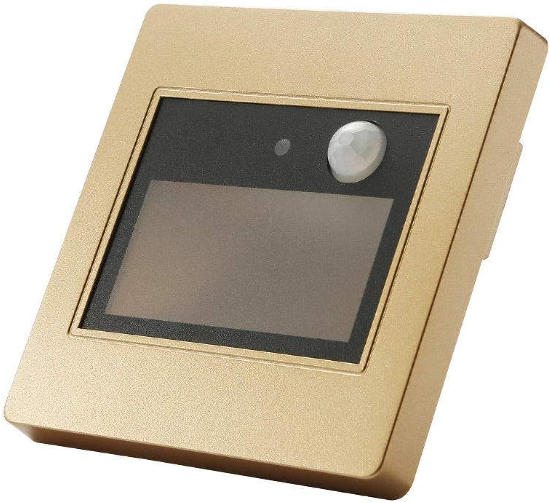 1 5   10X Wandsockel Treppenleuchte Bewegungsmelder Flur Hall Corner Lights 85-240V, Warmwei, Gold, 5Pcs
