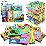 TEYTOY NEWEST 6pcs Soft Book for Babies Toddlers, Safe Nontoxic Biteable Cloth Book