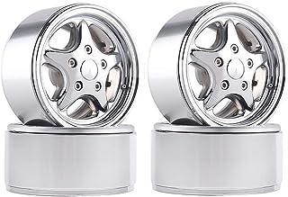 HONG YI-HAT 4Pcs 1.9 Metal Classic Wheel Rims for RC Rock Crawler Traxxas TRX4 Bronco Axial SCX10 90046 D90 スペアパーツ (Color ...