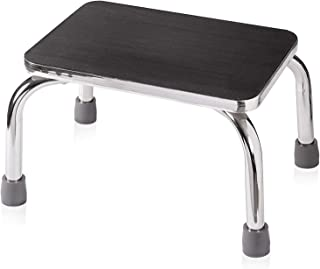 DMI Step Stool for Adults and Seniors, Heavy Duty Metal Stepping Stool for High Beds, Portable Foot Step Stool for Elderly, 250 lb Weight Capacity.