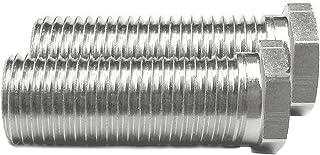 Keenberk - Metrische Hohlschraube für Siebkorbventile - universelle Passform für Ventilabläufe mit 1,5 und 3,5 Zoll - 35 mm Länge - M12 x 1,5 mm - 2 Stück