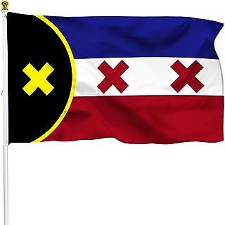 علم XIFAN الممتاز لعلم لامنبرج الاستقلال SMP 3x5 أقدام، ثقيل الوزن 2X سميك 100D بوليستر لامانبرج العلم ديكور داخلي خارجي