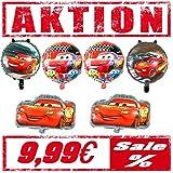Juego de 6 globos para decoración de cumpleaños, diseño de Cars