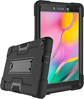 SUPWANT Samsung Galaxy Tab A 8.0 Case 2019 SM-T290, Shockproof Protective Rugged Stand Case Cover with Kickstand for Samsung Galaxy Tab A 8.0 Inch 2019 (SM-T290 /SM-T295) (Black)