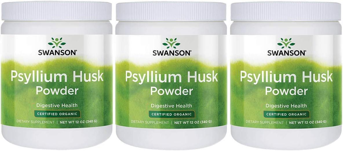 Swanson Certified Organic 驚きの価格が実現 セール特価 Psyllium Husk 12 Powder 340 g Ounce
