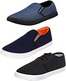 Earton Men Combo Pack of 3 (Casual Loafer Shoe with Sneaker)