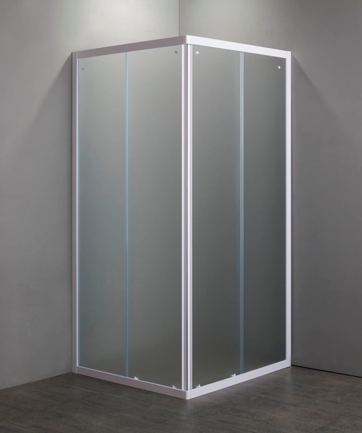Shower Cabin Box Crystal 4?mm Opening Sliding 2?Sides 75?x 75?altezza185?cm Profiles White