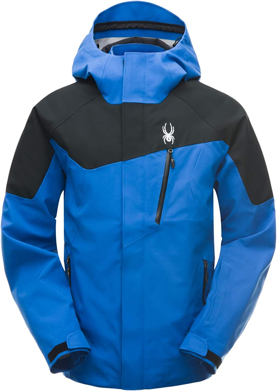 SPYDER Men's Jagged Shell GORE-TEX Waterproof Hooded Jacket for Winter Sports