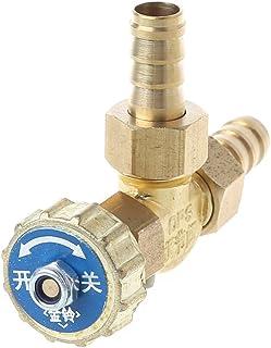 JENOR - Válvula de aguja de latón, 10 mm, ajuste de gas de