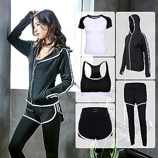 OneChange Yoga Set Sports Jacket + Pants + Shorts + Shirt + Sports Bra Yoga Jogging Five Sportswear Tracksuit Fitness Work...