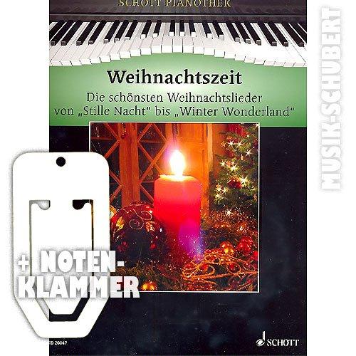 Kersttijd voor piano incl. praktische notenklem - De 38 mooiste kerstliedjes van STILLE NACHT tot WINTER WINER WONDERLAND en de 12 mooiste klassieke kerstmelodieën in een band gemiddeld zwaar gearrangeerd (zakboek) van Hans-Günter Heumann (muziek/heetmusic)