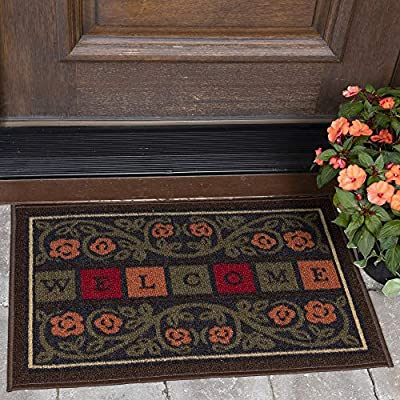 "Ottomanson OTH2228-20X30 Doormat, 20"" X 30"", Multicolor Welcome"
