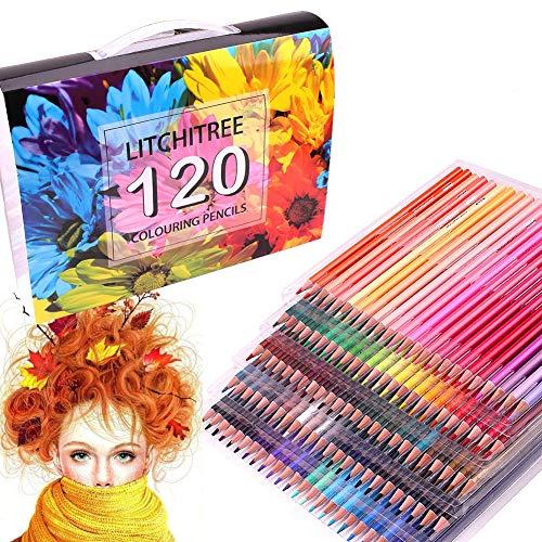 120 lápices de colores con 4 libros de colorear, 120 unidades, sin...