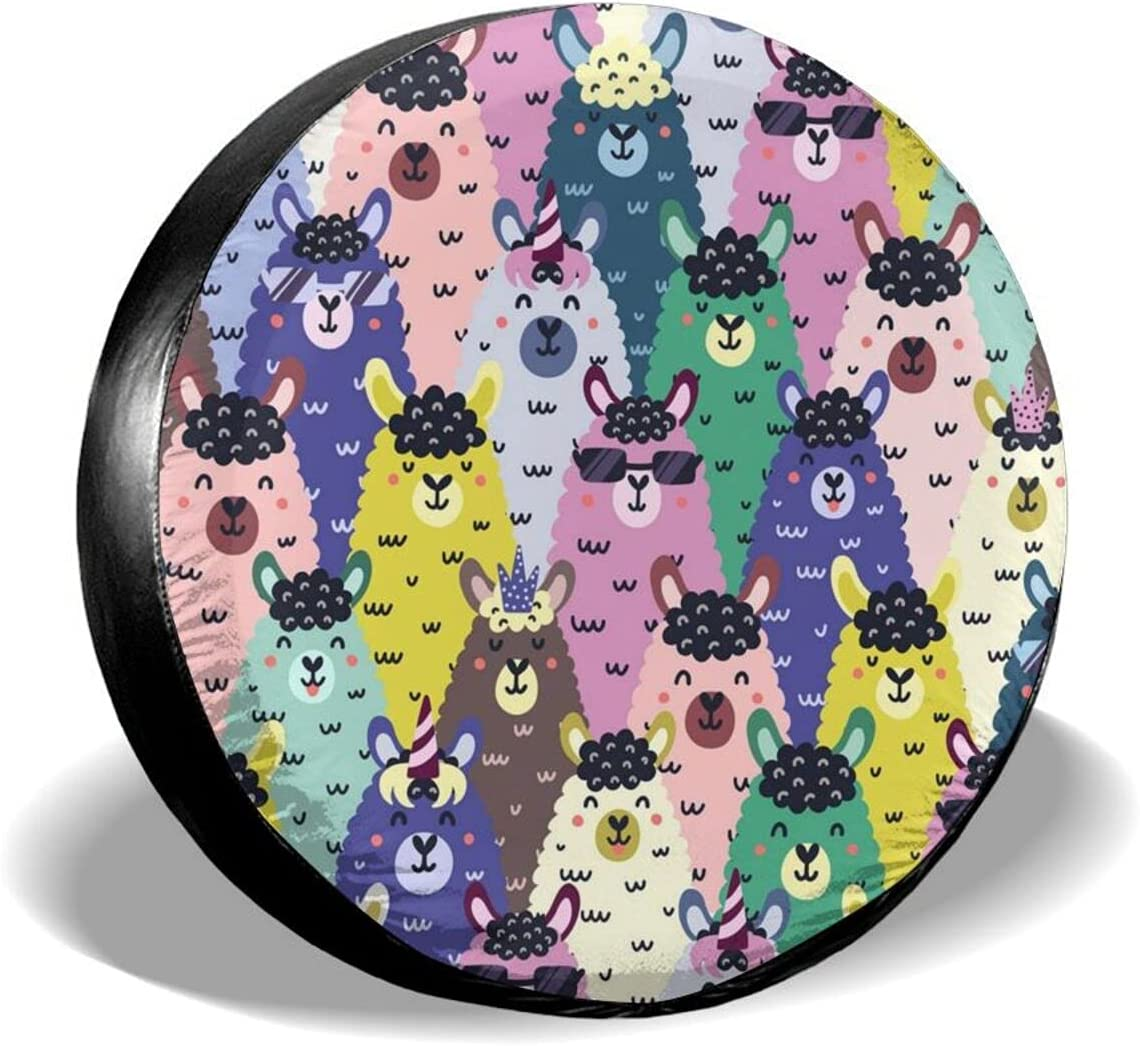 Hpoplace Spare Tire Cover Courier shipping free Funny Wheel price D All-Weather Llamas