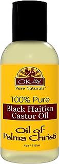 OKAY | 100% Pure Black Haitian Castor Oil | For All Hair Textures & Skin Types | Grow Healthy Hair - Treat Skin Conditions | Oil of Palma Christi | All Natural | 4 Oz