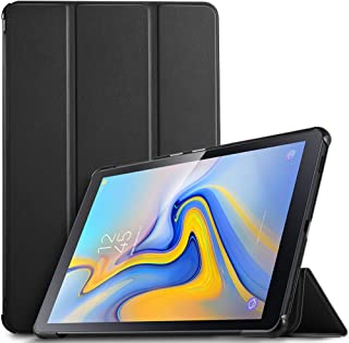 IVSO Funda Carcasa para Samsung Galaxy Tab A 10.5 SM-T590/T595, Slim PU Protectora Carcasa con Auto Wake/Sleep Función para Samsung Galaxy Tab A SM-T590/SM-T595 10.5 2018, Negro