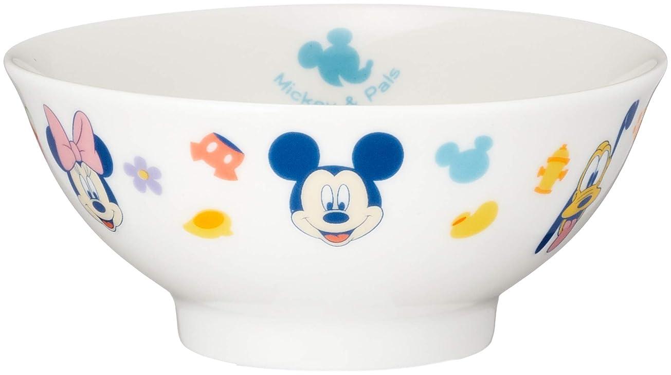 どうしたのリース説明するディズニー ミッキー&フレンズ お茶碗 直径10.5cm 白 106501