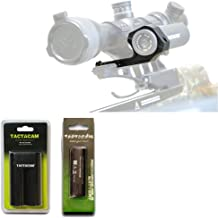 Tactacam Under Scope Crossbow Mount 5.0/4.0/Solo + Charger For Battery 4 + Rechargeable Battery for 3.0/4.0 - Deluxe Bundle