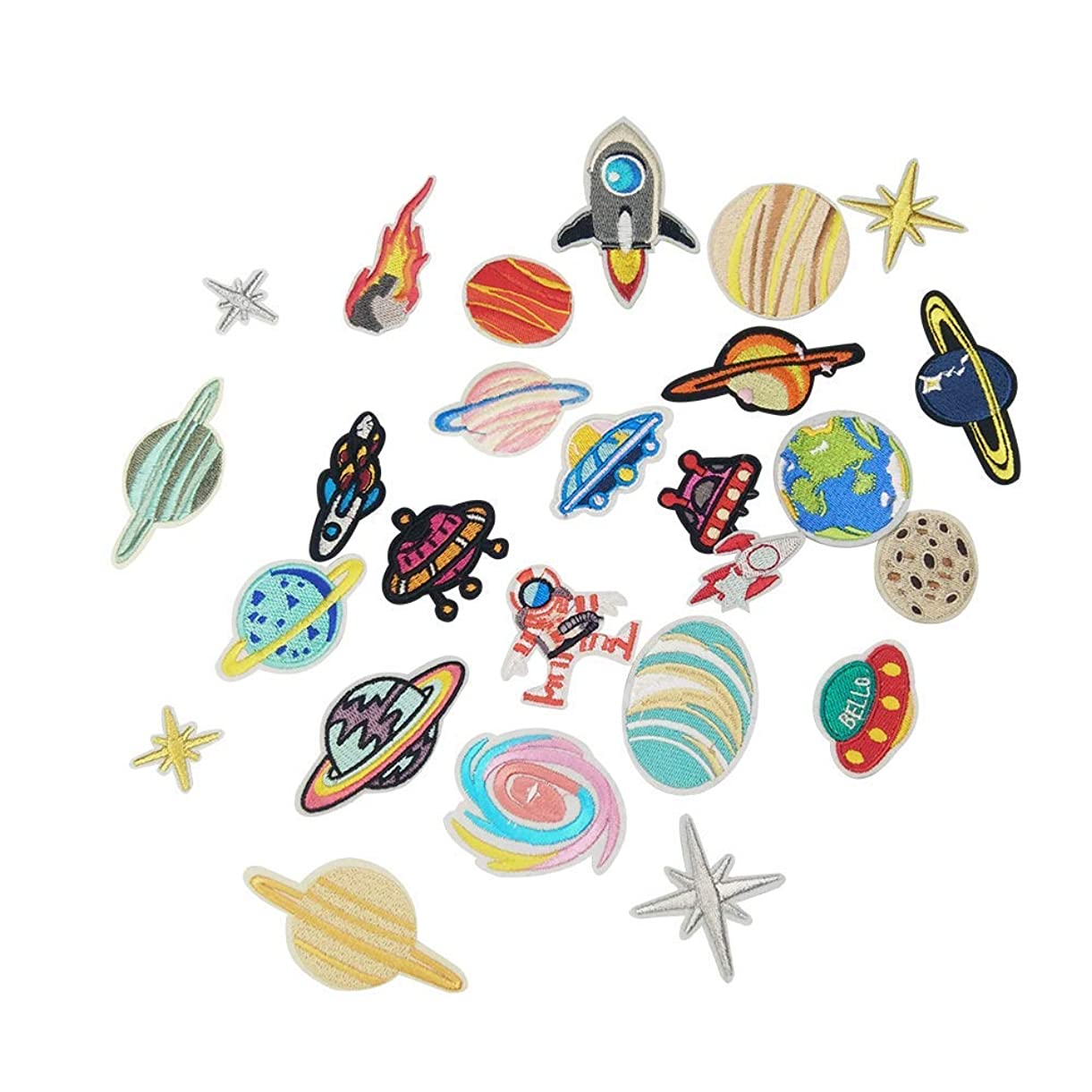 Iron on Patches 26 PCS Solar System DIY Sew Decoration Appliques Stickers for Clothing, Backpack, Caps, Repair The Hole Stick uvedr9218