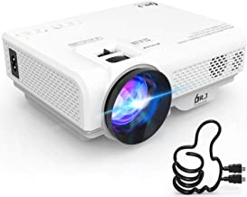 DR. J Professional 4500L Mini Projector Full HD 1080P Supported Portable Video Projector, Compatible With TV Stick, HDMI, ...