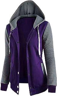 LvRao Womens Sweatshirts Hoodies Long Sleeve Hooded Jogging Varsity College Jackets Cardigan