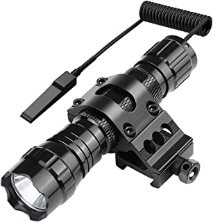 Marmot Tactical Flashlight 1200 Lumens LED Light,Picatinny Rail Mount & Rechargeable Batteries & Remote Switch Included
