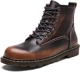 [Agogoo] マーチンブーツ 革靴 メンズ カジュアルシューズ ワークブーツ レースアップ 3色