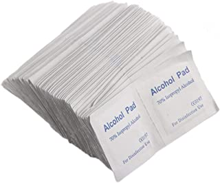 100PCS/Box Professional Alcohol Wipe Pad Medical Swab Sachet Antibacterial Tool Cleanser Cleanning Non-Woven Fabric Paper