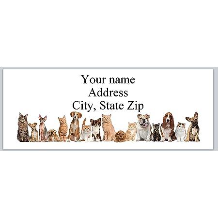 30 Personalized Return Address Labels Cartoon Dog Buy 3 get 1 free p 705