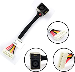 New Ac Dc-in Power Jack w/Cable Harness Connector Socket for HP Compaq Presario CQ60-102TX CQ60-214DX CQ60-216DX CQ60-410US CQ60-422DX CQ60-423DX CQ60-427NR