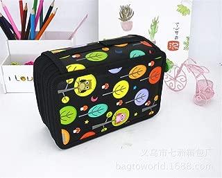 YWSCXMY-AU Cute Pencil Case Kawaii Cartoon Pencil Case 32/52/72 Roll Pencil Case Stationery Bag (Color : Orange)