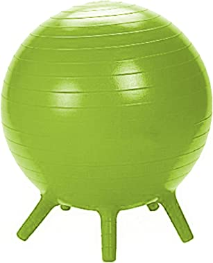 Guidecraft Yoga Ball Chair Green: Kid's Balance Ball, Alternative Flexible Seating for Active Children in Home or Classroom,