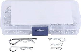 100 stuks R splitpennen tractor pin clips met plastic doos assortiment kit bevestigingsclip set bevestigingsmiddelen split...