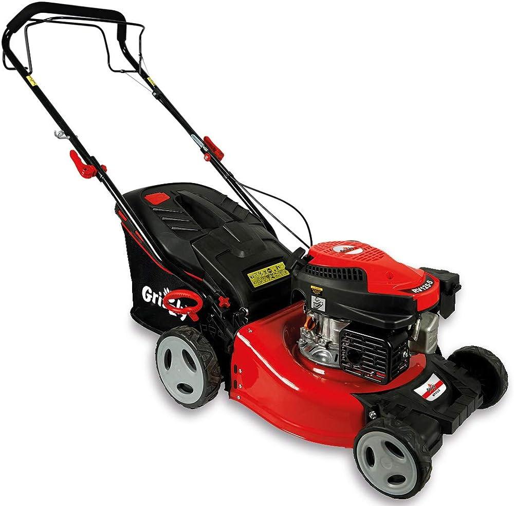Grizzly Cortacésped de Gasolina BRM 4210-20 A 1.6 kW 2.1 HP 42 cm Ancho de Corte 5 Veces Ajuste de Altura