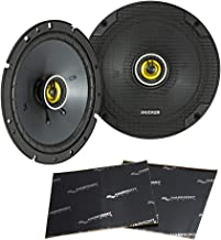 """$84 » Kicker 46CSC674 Car Audio 6 3/4"""" Coaxial Full Range Stereo Speakers Pair CSC67 Bundle with Harmony Audio Sound Dampening S..."""
