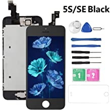 Screen Replacement for iPhone 5S/SE Black (4.0), Drscreen LCD Touch Screen Digitizer Display Replacement for A1533,A1457,A1453,A1530,A1723,A1662,A1724, w/Repair Tool Kits Including Protector