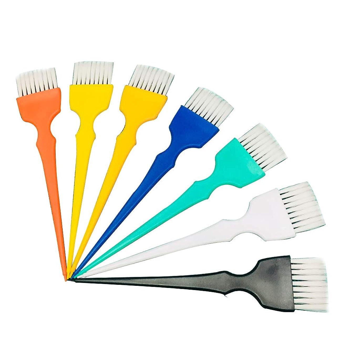 推定過度に胸Frcolor ヘアダイブラシ ヘアカラーブラシ ヘアダイコーム 白髪染め 家庭用 美容師プロ用 プラスチック製 7本セット(ランダムカラー)