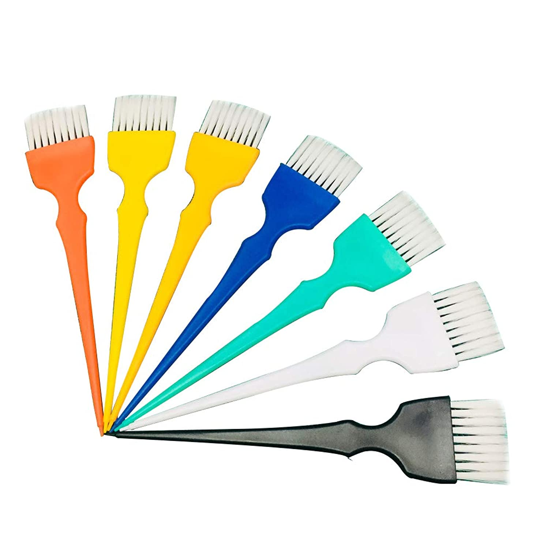 パッチ旧正月汚れるBeaupretty 7本染毛ブラシプラスチックソフトブラシヘアカラーブラシ美容院用(ランダムカラー)