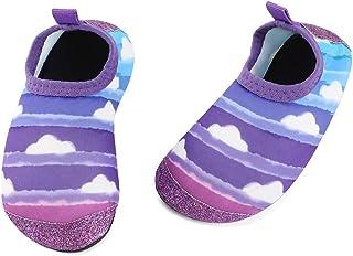 TIZAX Chaussures Aquatiques pour Bébé Chaussures Antidérapant d'eau pour Enfant Filles Chaussons Séchage Rapide pour Plage...