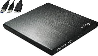 Archgon Star BD Blu-ray externo Grabadora / Reproductor Player para PC USB 3.0, M-Disc, aluminio negro