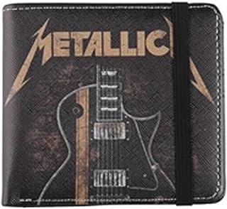 Metallica Guitar Men Wallet Black, Polyurethane,