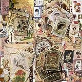 240 Pcs (4 Estilos) Pegatinas de Sellos, Pegatinas Scrapbooking Vintage Plantas Flores para DIY Manualidades Decoración Scrapbooking Álbumes de Recortes Calendarios Tarjetas