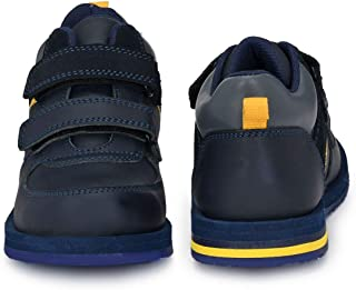 DC - Boys Blue/Yellow Leather Boots