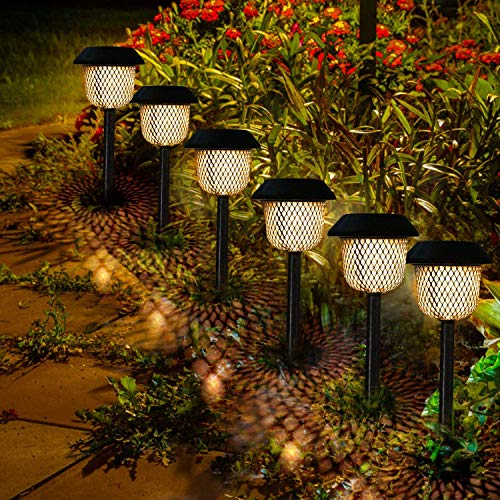 Philonext Solar Pathway Lights Outdoor,6pcs Solar Garden Lights,Water Density IP44 Led Landscape Lantern for Walkway, Path, Lawn, Patio,Yard (Bronze)