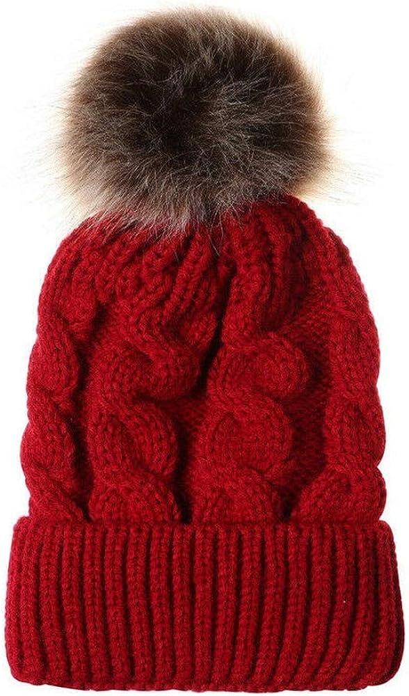 TranRay Mom Baby Sales results No. Tulsa Mall 1 Boys Girls Kid Beanie Pom Warm Bobble Crochet