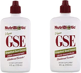 2 Pack GSE Grapefruit Seed Extract Liquid Concentrate 10 Drops 400 Serving 4 fl oz 118 ml