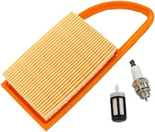HURI Air Filter Fuel Filter Spark Plug for Stihl BR500 BR550 BR600 Backpack blowers Replace 4282 141 0300 4282 141 0300B