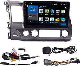 KUNFINE Quad Core Android 8.0 Car DVD GPS Navigation Autoradio Car Stereo Multimedia Player Car Radio for Honda Civic 2004 2005 2006 2007 2008 2009 2010 2011 Headunit Supports Steering Wheel Control