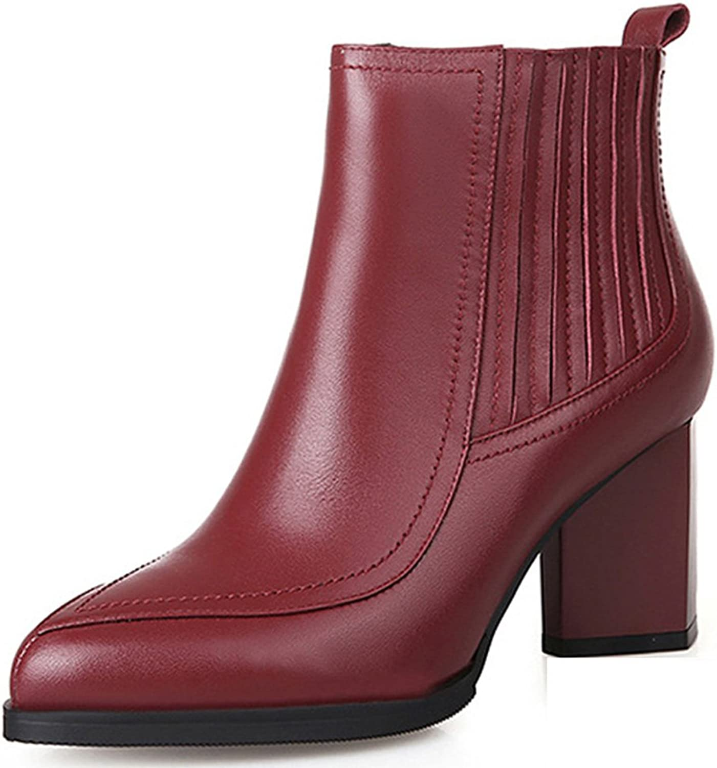 Tip rough with short boots for fall winter Ms Martin boots red wine nude boots high heel ladies and