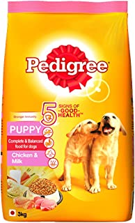 Pedigree Puppy Dry Dog Food, Chicken and Milk, 3kg Pack